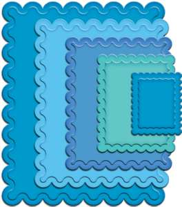 Spellbinders Nestabilities - Classic Scallop Rectangles Large