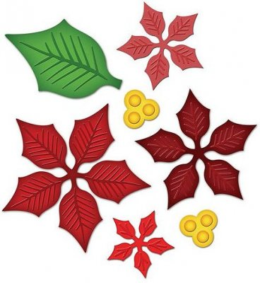 Spellbinders Shapeabilities - Layered Poinsettia (7 dies)
