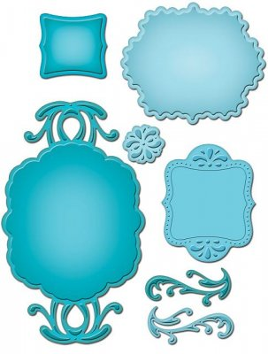 Spellbinders Shapeabilities - Ornate Artisan Tags and Accents (7 dies)
