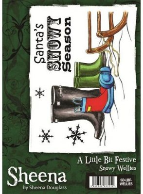 A Little Bit Festive Stamp Set - Snowy Wellies by Sheena Douglass
