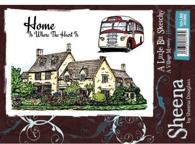 A Little Bit Sketchy Stamp Set - Homecoming by Sheena Douglass