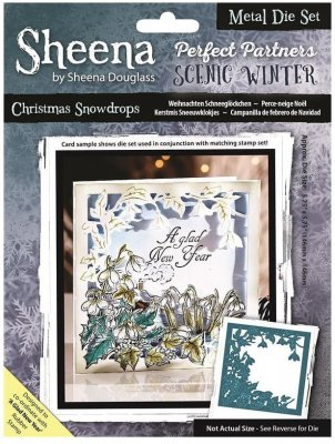 Sheena Douglass Perfect Partner Scenic Winter Dies - Christmas Snowdrops