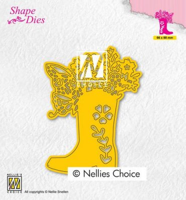 Nellies Choice Shape Dies - Boot with Flowers