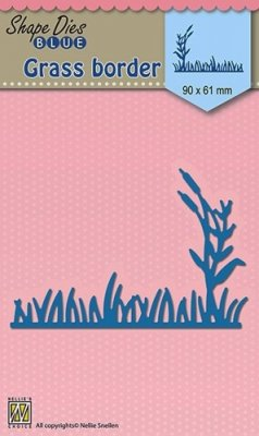 Nellies Choice Blue Shape Dies - Grass Border-2