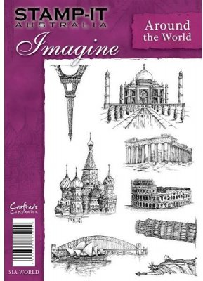 Stamp It Imagine Unmounted Rubber Stamp - Around the World