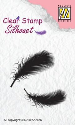 Nellies Choice Clearstamps - Silhouette Feathers #23
