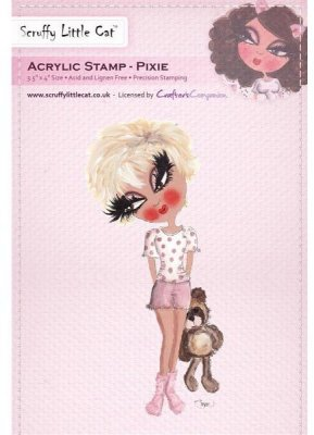 Crafters Companion Scruffy Little Cat Acrylic Stamp - Pixie