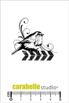 Carabelle Studio Cling Stamp - Chevron Bird Collage
