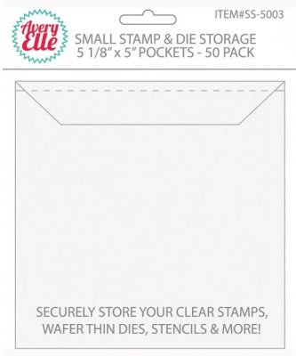 Avery Elle Stamp & Die Storage Pockets - Small (50 pack)