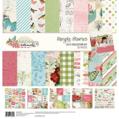 "Simple Stories 12""x12"" Collection Kit - Simple Vintage Botanicals (82 pieces)"