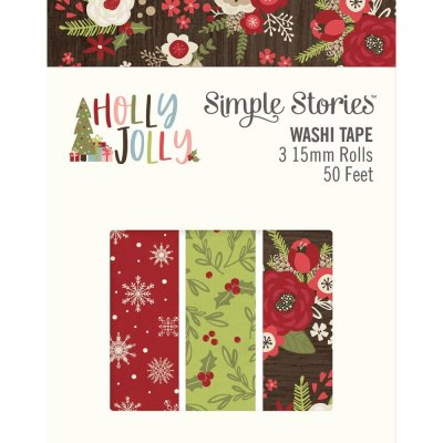 Simple Stories Holly Jolly Washi Tape (3 pack)