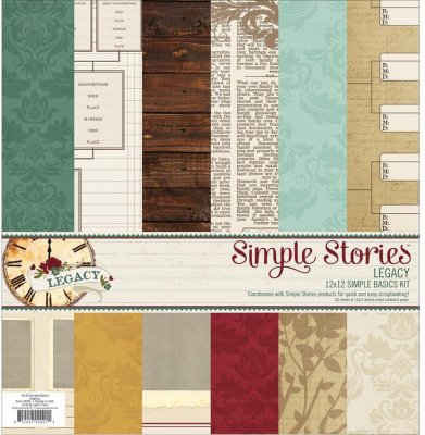 Simple Stories Simple Basics Kit - Legacy (6 sheets)