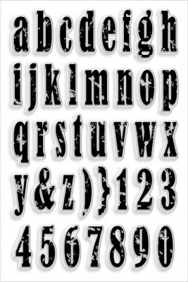 Stampendous Perfectly Clear Stamp Set - Vintage Lowercase Alphabet