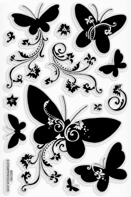 Stampendous Clear Stamp Set - Butterfly Beauties