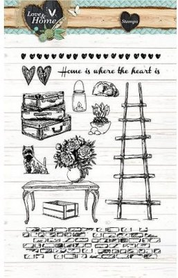 Studio Light A6 Clearstamp Set - Love & Home 124