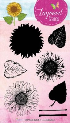 Studio Light A5 Layered Clear Stamp Set - Sunflower #16