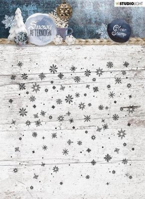 Studio Light 14x14cm Background Stamp - Snowy Afternoon #401