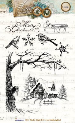 Studio Light A6 Clearstamp Set - Winter Memories 117