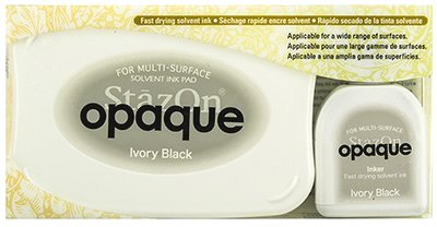StazOn Opaque Ink Kit - Ivory Black