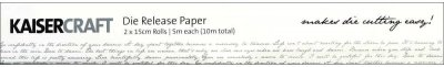 Kaisercraft Die Release Paper (2 sheets, 5m long each)