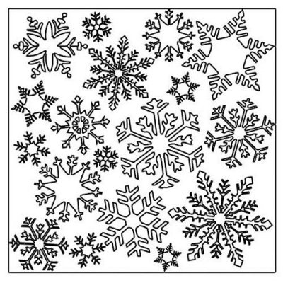"Crafters Workshop 12""x12"" Template - Flurries"
