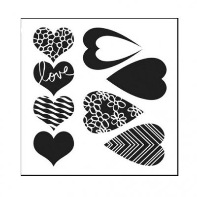 "Crafters Workshop 6""x6"" Template - Mix & Match Hearts"