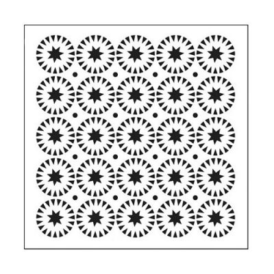 "Crafters Workshop 6""x6"" Template - Stars & Circles"