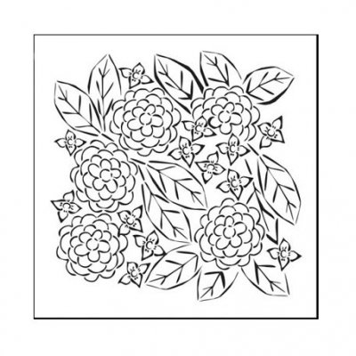 "Crafters Workship 6""x6"" Template - Flower Garden"