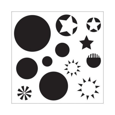 "Crafters Workship 6""x6"" Template - Layered Circles"