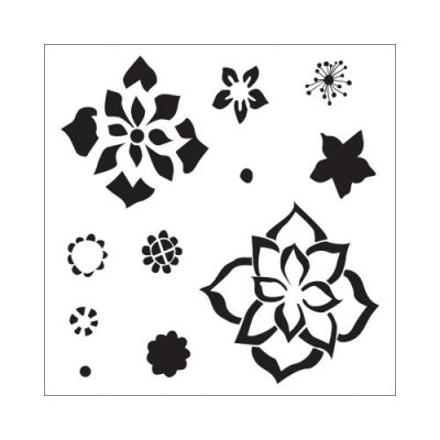 "Crafters Workship 6""x6"" Template - Layered Flowers"