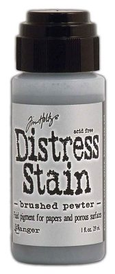 Ranger Tim Holtz Distress Stain - Brushed Pewter (Metallic)