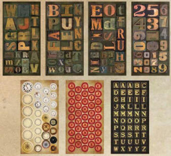 Tim Holtz Idea-ology - Salvage Stickers (7 sheets)