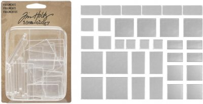 Tim Holtz Idea-Ology Fragments Acrylic Shapes - Rectangles & Squares (36 pack)