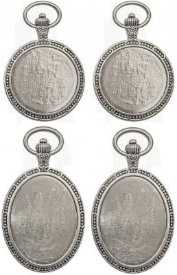 Tim Holtz Idea-Ology Metal Watch Cameos - Antique Nickel (4 pack)