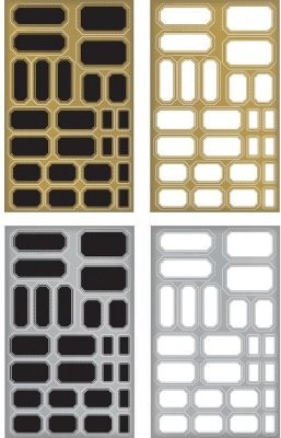 Tim Holtz Idea-Ology Metallic Stickers - Labels (4 pack)