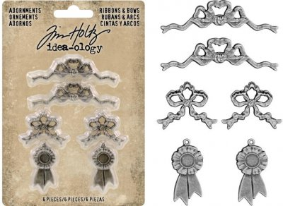 Tim Holtz Idea-Ology Metal Adornments (6 pack)