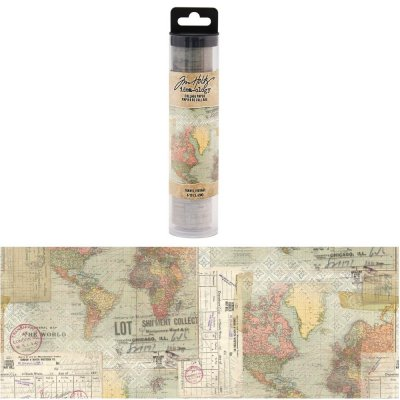 Tim Holtz Idea-Ology Collage Paper - Travel (6