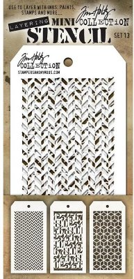 Tim Holtz Mini Layered Stencil Set #13 (3 pack)