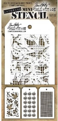 Tim Holtz Mini Layered Stencil Set #22 (3 pack)