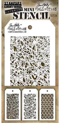 Tim Holtz Mini Layered Stencil Set #24 (3 pack)