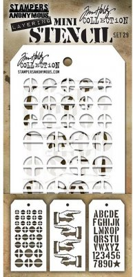 Tim Holtz Mini Layered Stencil Set #28 (3 pack)
