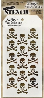 Tim Holtz Layered Stencil - Crossbones