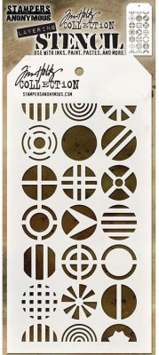 Tim Holtz Layered Stencil - Patchwork Circle