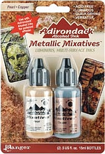 Tim Holtz Adirondack Ink Pack - Metallic Mixatives (Pearl / Copper)