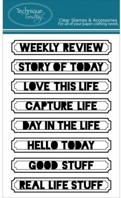 Technique Tuesday Clear Stamps - Weekly Review
