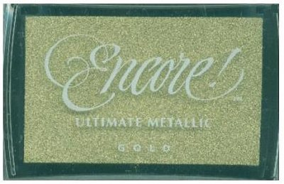 Tsukineko Ultimate Metallic Ink Pad - Gold