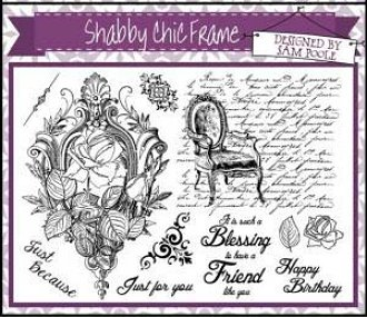 Creative Expressions Umounted A5 Stamp Plate - Shabby Chic Frame