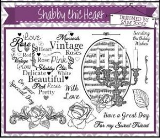 Creative Expressions Umounted A5 Stamp Plate - Shabby Chic Heart