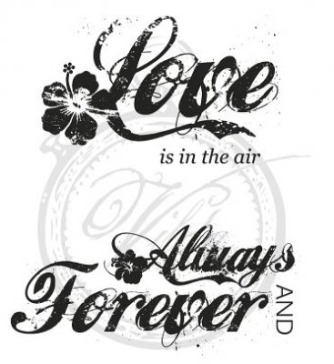 Vilda Stamps - Love is in the air, Always and forever