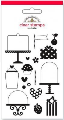 Doodlebug Design - Sweet Cakes clear stamp set (17 stamps)